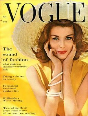 Vintage Vogue magazine covers - wah4mi0ae4yauslife.com - Vintage Vogue May 1960 - Dorothea McGowan.jpg