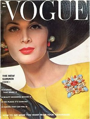 Vintage Vogue magazine covers - mylusciouslife.com - Vintage Vogue May 1962 - Isabella Albonico.jpg