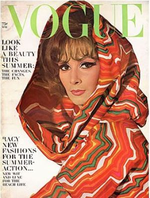 Vintage Vogue magazine covers - mylusciouslife.com - Vintage Vogue May 1964 - Wilhemina.jpg