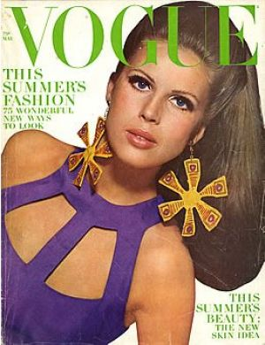 Vintage Vogue magazine covers - mylusciouslife.com - Vintage Vogue May 1966 - Birgitta af Klerker.jpg