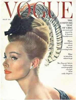 Vintage Vogue magazine covers - wah4mi0ae4yauslife.com - Vintage Vogue October 1962 - Monique Chevalier.jpg