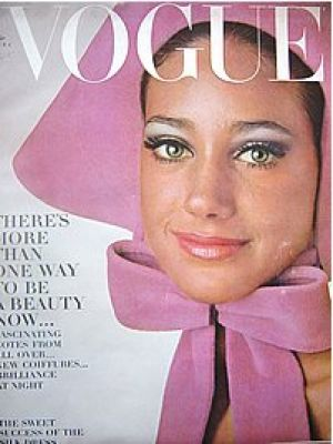 Vintage Vogue magazine covers - mylusciouslife.com - Vintage Vogue October 1965 - Marisa Berenson.jpg