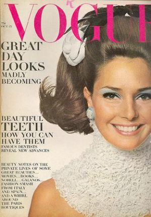 Vintage Vogue magazine covers - mylusciouslife.com - Vintage Vogue October 1967 - Jennifer ONeill.jpg