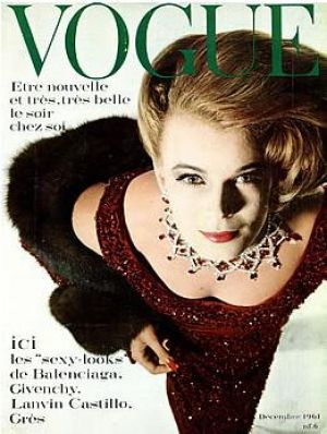 Vintage Vogue magazine covers - mylusciouslife.com - Vintage Vogue Paris December 1961_-_Anne_de_Zogheb.jpg