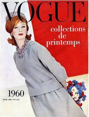Vintage Vogue magazine covers - mylusciouslife.com - Vintage Vogue Paris March 1960.jpg