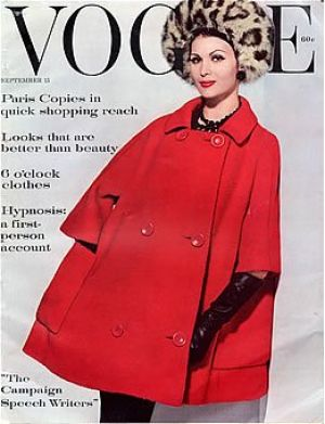 Vintage Vogue magazine covers - mylusciouslife.com - Vintage Vogue September 1960.jpg