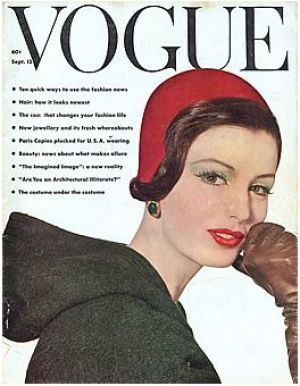 Vintage Vogue magazine covers - mylusciouslife.com - Vintage Vogue September 1961 - Dorothea McGowa.jpg