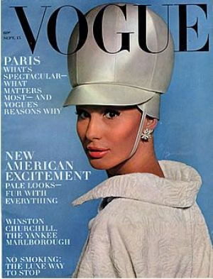 Vintage Vogue magazine covers - mylusciouslife.com - Vintage Vogue September 1963 - Brigitte Bauer.jpg