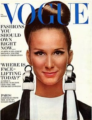Vintage Vogue magazine covers - mylusciouslife.com - Vintage Vogue September 1966 - Brigitte Bauer.jpg
