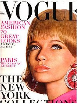 Vintage Vogue magazine covers - mylusciouslife.com - Vintage Vogue September 1966 - Veruschka.jpg