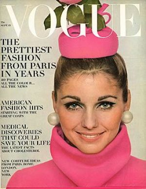 Vintage Vogue magazine covers - mylusciouslife.com - Vintage Vogue September 1967 - Heidi Wiedeck.jpg