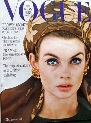 Vintage Vogue magazine covers - mylusciouslife.com - Vintage Vogue UK August 1963 - Jean Shrimpton.jpg