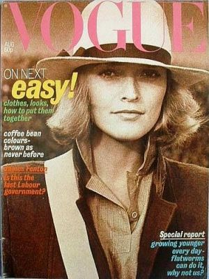 Vintage Vogue magazine covers - mylusciouslife.com - Vintage Vogue UK August 1977.jpg