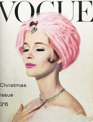 Vintage Vogue magazine covers - mylusciouslife.com - Vintage Vogue UK December 1960.jpg