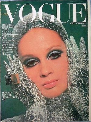 Vintage Vogue magazine covers - mylusciouslife.com - Vintage Vogue UK December 1966.jpg