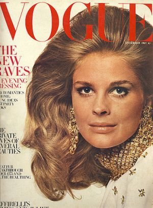 Vintage Vogue magazine covers - mylusciouslife.com - Vintage Vogue UK December 1967 - Candice Bergen.jpg