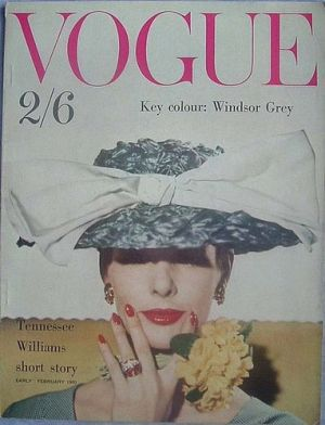 Vintage Vogue magazine covers - mylusciouslife.com - Vintage Vogue UK Early February 1960.jpg