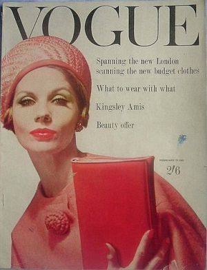 Vintage Vogue magazine covers - mylusciouslife.com - Vintage Vogue UK February 1961.jpg