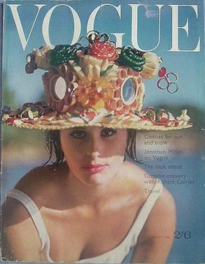 Vintage Vogue magazine covers - mylusciouslife.com - Vintage Vogue UK January 1962.jpg