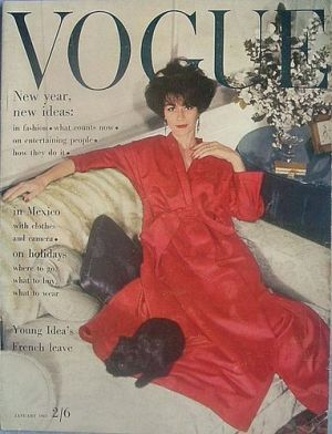 Vintage Vogue magazine covers - wah4mi0ae4yauslife.com - Vintage Vogue UK January 1963.jpg
