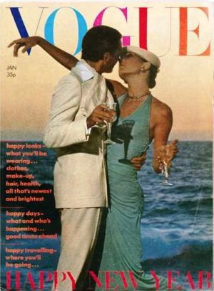 Vintage Vogue magazine covers - mylusciouslife.com - Vintage Vogue UK January 1974.jpg