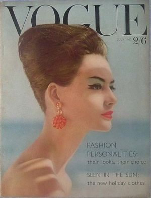 Vintage Vogue magazine covers - mylusciouslife.com - Vintage Vogue UK July 1960.jpg