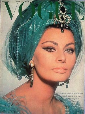 Vintage Vogue magazine covers - mylusciouslife.com - Vintage Vogue UK July 1965 - Sophia Loren.jpg