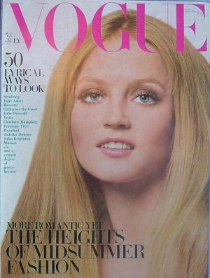 Vintage Vogue magazine covers - mylusciouslife.com - Vintage Vogue UK July 1968.jpg