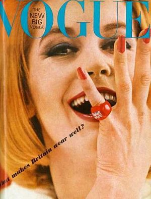 Vintage Vogue magazine covers - mylusciouslife.com - Vintage Vogue UK June 1963 - Sandra Paul.jpg