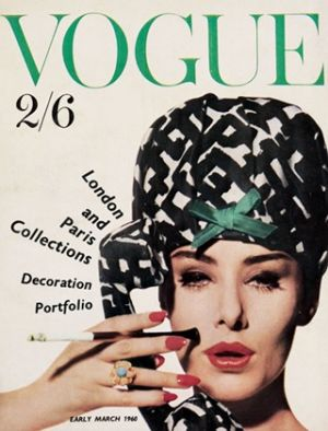 Vintage Vogue magazine covers - mylusciouslife.com - Vintage Vogue UK March 1960.jpg