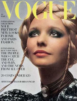 Vintage Vogue magazine covers - wah4mi0ae4yauslife.com - Vintage Vogue UK March 1970 - Maudie James.jpg