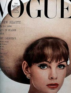 Vintage Vogue magazine covers - mylusciouslife.com - Vintage Vogue UK May 1963 - Jean Shrimpton.jpg
