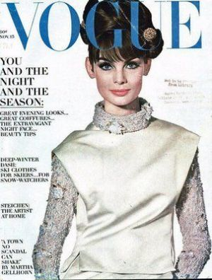 Vintage Vogue magazine covers - mylusciouslife.com - Vintage Vogue UK November 1963 - Jean Shrimpton.jpg