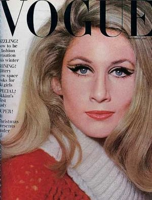 Vintage Vogue magazine covers - mylusciouslife.com - Vintage Vogue UK November 1964.jpg