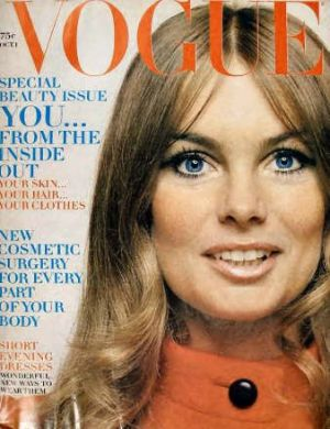 Vintage Vogue magazine covers - mylusciouslife.com - Vintage Vogue UK October 1969.jpg