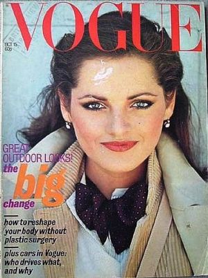 Vintage Vogue magazine covers - mylusciouslife.com - Vintage Vogue UK October 1977.jpg