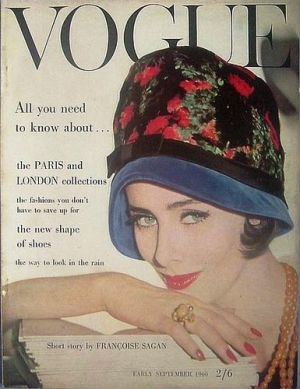 Vintage Vogue magazine covers - mylusciouslife.com - Vintage Vogue UK September 1960_2.jpg