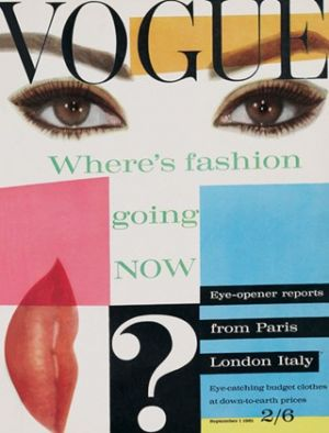 Vintage Vogue magazine covers - mylusciouslife.com - Vintage Vogue UK September 1961.jpg