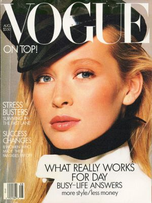 Vintage Vogue magazine covers - mylusciouslife.com - Vogue August 1987 - Estelle Lefebure.jpg