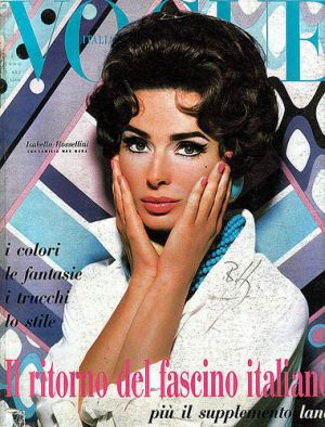 Vintage Vogue magazine covers - mylusciouslife.com - Vogue Italia September 1990.jpg