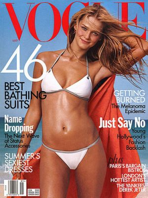 Vintage Vogue magazine covers - mylusciouslife.com - Vogue May 1999 - Carmen Kass.jpg
