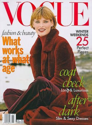 Vintage Vogue magazine covers - mylusciouslife.com - Vogue November 1996 - Linda Evangelista.jpg