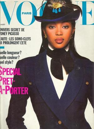 Vintage Vogue magazine covers - mylusciouslife.com - Vogue Paris August 1988 - Naomi Campbell.jpg