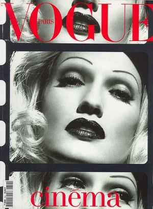 Vintage Vogue magazine covers - mylusciouslife.com - Vogue Paris December 1994 January 1995.jpg