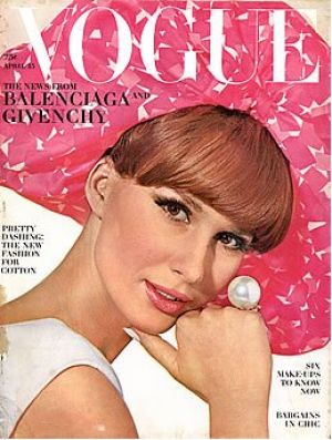 c11-Vintage Vogue magazine covers - mylusciouslife.com - Vintage Vogue April 1964.jpg
