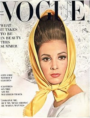 c13-Vintage Vogue magazine covers - mylusciouslife.com - Vintage Vogue May 1963 - Wilhemina.jpg