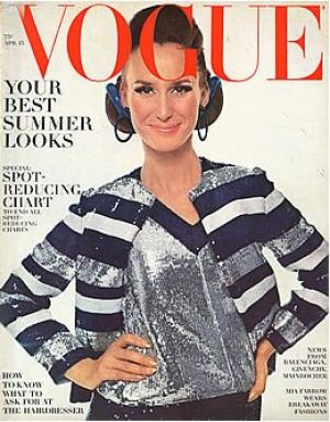 Vintage Vogue magazine covers - mylusciouslife.com - Vintage Vogue April 1966 - Brigitte Bauer.jpg