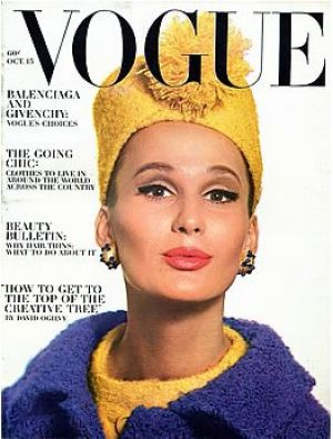 Vintage Vogue magazine covers - mylusciouslife.com - Vintage Vogue October 1963 - Brigitte Bauer2.jpg