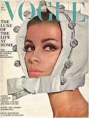 Vintage Vogue magazine covers - mylusciouslife.com - Vintage Vogue November 1964 - Astrid Heeren.jpg