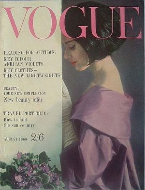 Vintage Vogue magazine covers - wah4mi0ae4yauslife.com - Vintage Vogue UK August 1960.jpg